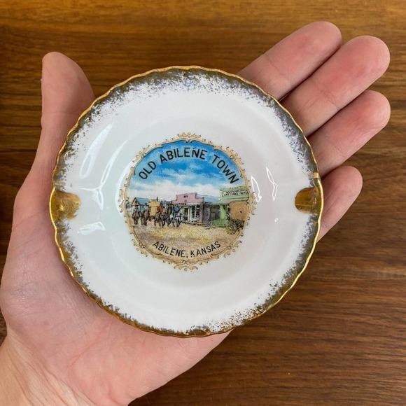 VINTAGE l Abilene Kansas Small Trinket Dish